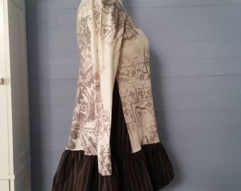 M - L UPCYCLED SHABBY Chic Tunic / Gypsy Cowgirl Tunic / French Country Tunic / Leggings / Upcycled Tunic / Eco Clothing / Upcycled Gypsy