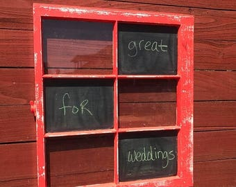 ON SALE custom wedding chalkboard - chalkboard - 6 pane window chalkboard - old window chalkboard - days of the week chalkboard