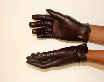 Vintage Winter Gloves, Leather Gloves