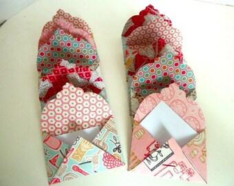 set of 10 mini envelopes