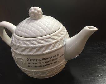 White Ceramic Teapot