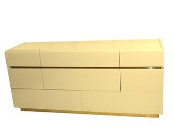 Mid Century Lane 8 Drawer Lacquered Dresser sale