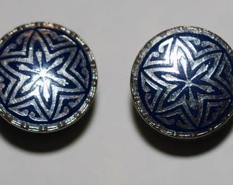 1920s-30s era Kum-A-Part Enameled Double Faced Snap Cuff Links-- Free Shipping!