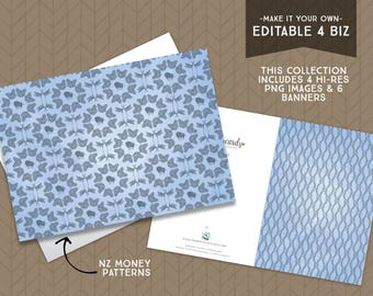 Editable for Business   NZ Money Clutch   Finance   Forever Cards   Single Use License included   Printable Greeting Card   Instant Download