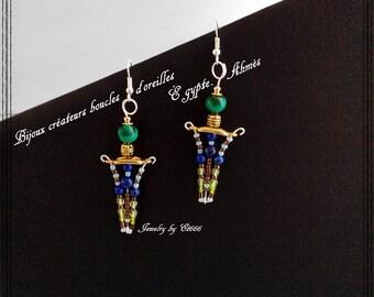 Jewelry designers earrings Egypt. Ahmès