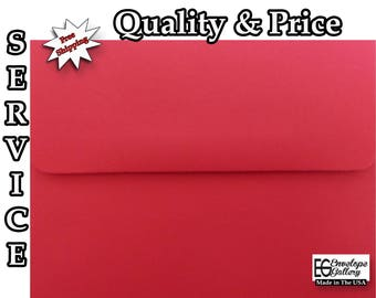 Holiday Red A1 A2 A6 A7 Envelopes Invitations Announcements Weddings Shower Communion Enclosures Confirmation Astrobrights Re-Entry Red