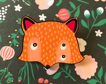 Little Fox Handmade Brooch
