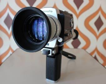 Minolta Autopak-8 D6 retro vintage super 8 kodak 8mm movie cine film camera 1970s film maker Canon Agfa