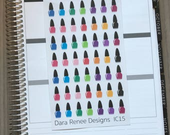 1 dollar! Nail Polish planner stickers