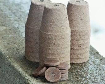 Biodegradable Peat Pots, Seed Starter Pots, Peat Pots, 3 inch peat pots