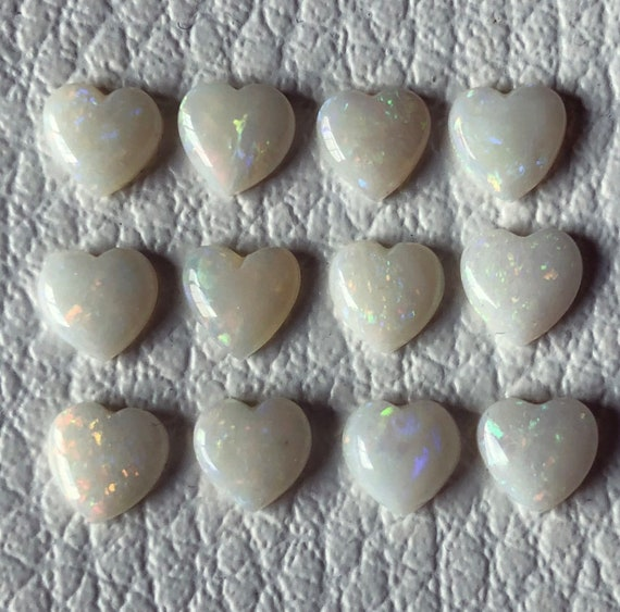 Sterling silver rings with solid Australian opal hearts