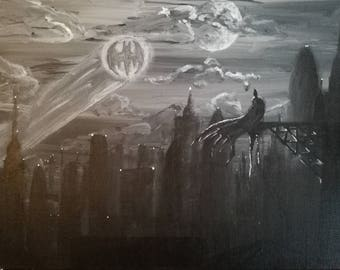 Batman Gotham Original Painting