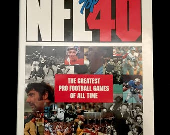 NFL Top 40-The Greatest Football Games of All Time/Football Coffee Table Book/Sports Book/NFL Memorabilia/Super Bowl/Dallas Cowboys/Redskins