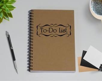 Notebook Journal- To Do List Notebook - 5 x 7 Journal, Writing journal, diary, travel plans, Planning Journal, To Do List, Planning notebook
