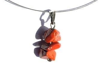 Natural nature jewelry, red jasper pendant, natural stone necklace, natural gemstone pendant, nature necklace, natural crystal pendant ahin