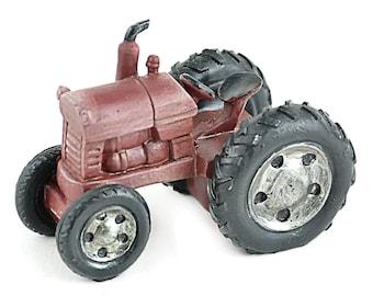 Fairy Garden  - Mini Red Garden Tractor - Miniature
