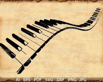 Vector PIANO, AI, eps, pdf, svg, dxf, png, jpg Download, Digital image, graphical, discount coupons