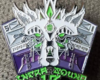 Infrasound Swamp Wolf Hat Pin