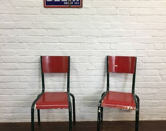 Vintage French Mullca Metal Bistro Cafe Garden Chairs
