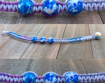 Purple hemp bracelet