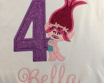 Girl Troll Birthday Shirt