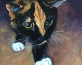 Calico cat, Giclee Print from Custom Portrait