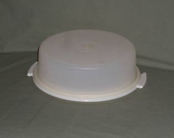 Vintage Tupperware Pie Keeper | Tupperware White Dessert Taker No handle | Holiday Food Container | Plastic storage Tupperware #719 #720