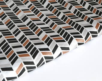 Cotton fabric geometric /chevrons by 50 cm