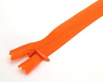 Invisible zipper 60 cm orange