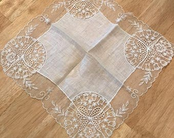Vintage Wedding Hankie