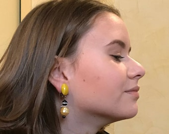 Genuine stone earrings, handmade in France