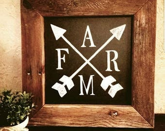 Farm - Farmhouse Style Chalkboard Sign