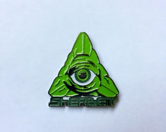 """Sherbet """"Green All Seeing"""" Hat Pin"""