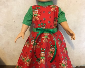 American girl dolls christmas dress