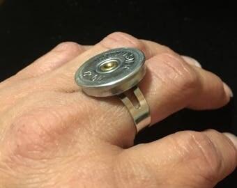Shotgun shell adjustable ring