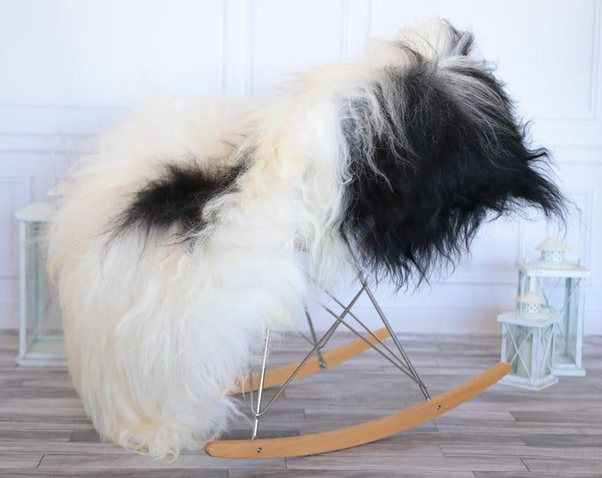 Icelandic Sheepskin   Real Sheepskin Rug   Ivory Black Sheepskin Rug   Fur Rug   Christmas Decorations #ISLA13