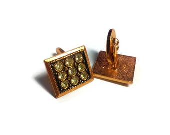 anniversary gift for men gift brother from sister vintage cuff links square cufflink gold toned gift for father gifts for boyfriend gift dj6