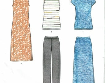 Simplicity New Look Pattern 0872 Misses Dresses Seven Sizes in One (Size 10-22) UNCUT