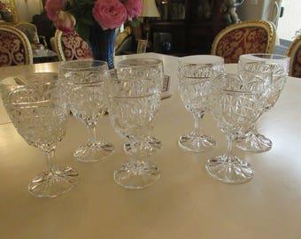 CRYSTAL WINE OR Water Glasses