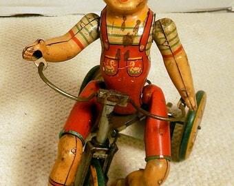 1930's Unique Art Toys Kiddy Cyclist
