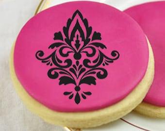 Damascus stencil, damascus cookie stencil, cupcake stencil, cake pops stencil.