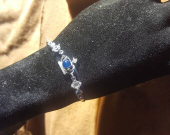 Dominican natural jewelery, blue amber bracelet, organic gem