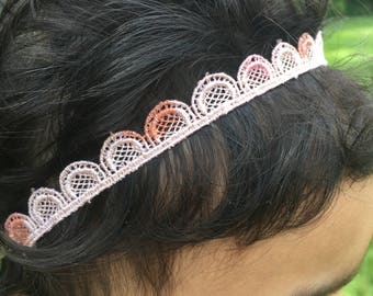 Cream blush headband/infant headbands/toddlers/hair accesories