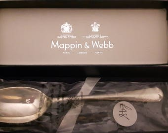 Mappin and Webb christening spoon