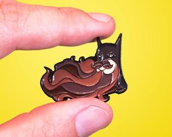 """Beard Knight 1.5"""" Batman Enamel Pin"""