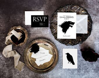 Game of Thrones Party Invitation Suite Template