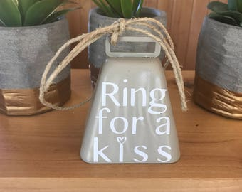 Wedding bell - kissing bell - wedding decor - reception decor - ring for a kiss