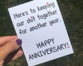 Funny Relationship Card - Funny Anniversary Card - Funny Wedding Anniversary Card - funny anniversary card for him - anniversary card
