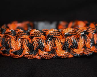 Orange Camo Paracord Bracelet