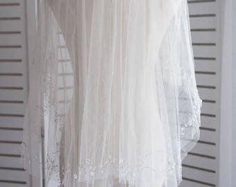 Bridal Veil, Wedding Veil, Bridal Veil with Comb, Elbow Length Bridal Veil, Ivory Bridal Veil, Waist Length Bridal Veil